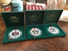 Set of 3 Longaberger Hometown Porcelain Ornaments - 1996 1998 1999 - New