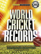 """""""AS NEW"""" World Cricket Records 2013, Chris Hawkes, Book"""