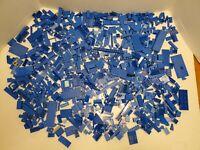 LEGO LOT OF BULK BRICKS BLUE BUILDING BLOCK PARTS 3 LB
