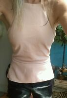 Scanlan & Theodore Real Stretch Leather Halter top sz 12 RRP $550