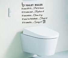 Toilet Rules Bathroom Removable Wall Sticker Vinyl Art Decals DIY Room Decor US