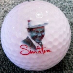 (3-Ball Gift Pack) Top Flite  Mint Frank Sinatra Face LOGO Used Golf Balls