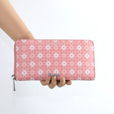 NWT Coach Waverly Signature Print Accordion Zip Around Wallet 50273 Pink Rare