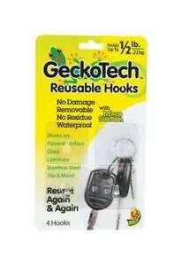 GeckoTech Reusable Hook Plastic 1/2 lb. per Hook 4 pk NEW