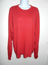 MEN'S DALKEITH 100% CASHMERE RED CREWNECK LONG SLEEVES SWEATER SCOTLAND SIZE L