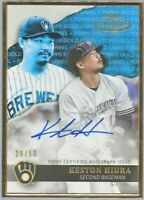 2020 Topps Gold Label Keston Hiura Framed Blue Auto #20/50 Milwaukee Brewers