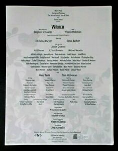 Wicked the Musical cast list Gershwin Theatre July 2014 Christine Dwyer J Barber
