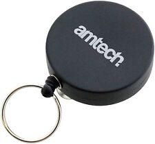 Black Recoil Retractable Key Ring Keys ID Belt