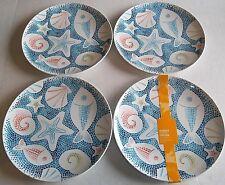 """COASTAL  Melamine Dinner Plates 11""""  Set of 4   Coastal Theme"""