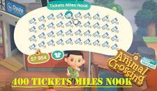 animal crossing new horizons 400 Ticket Miles Nook