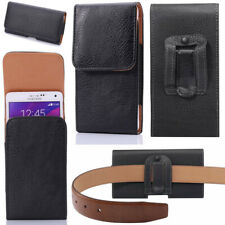 Luxury Magnetic Litchi Leather Belt Clip Holster Carrying Case Cover for iPhone