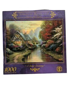 Thomas Kinkade A Quiet Evening 1,000 Jigsaw Puzzle 27'' x 20'' NEW & SEALED 1999