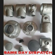 More details for galvanised key clamp handrailing system pipe fittings