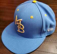 New Era Myrtle Beach Pelicans Fitted Hat Size 7 1/4 Blue