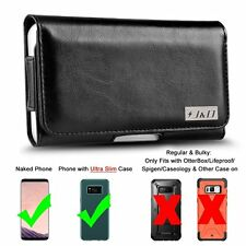 Samsung Galaxy S8 Plus Leather Holster Pouch Case Belt Clip Wallet Card Pocket