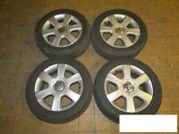 """Original VW Golf V 1K Aluradsatz 16"""" Alufelgen mit Reifen A14530 1t0601025c"""