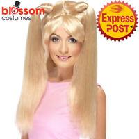 W462 Spice Girls Baby Power Womens Wig Blonde 90s Pop Star Costume Accessory