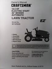 """Sears Craftsman 18.5 h.p 46"""" Riding Lawn Tractor Owner & Parts Manual 917.272121"""