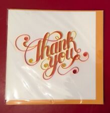 Quillin Cards - Handmade Quilled Paper Greeting Card - Thank You - NEW