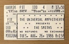 1986 THE SMITHS LOS ANGELES CONCERT TICKET STUB MORRISSEY QUEEN IS DEAD TOUR 826