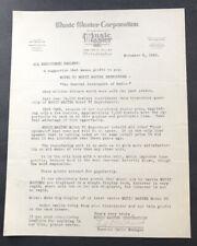 Antique Advertising Letterhead 1925 Music Master Model VI Reproducer