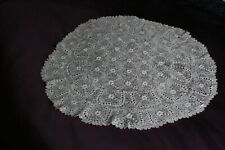 Irish lace vintage table centre 52cm D Rose Motifs White