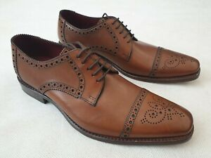 Loake Design Foley Brown Leather Lace Up Shoes with Brogue Pattern UK 7 RRP £179