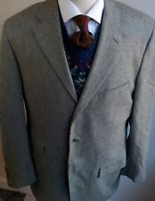 POLO RALPH LAUREN Wool/Cashmere Gray 3 Button Blazer SZ 42L Made in Italy