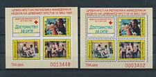 LM82364 Macedonia 1993 perf/imperf red cross sheets MNH