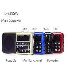 Mini Digital AM FM Radio MP3 Wireless Music Speaker Player TF USB Disk Random