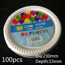Party Plastic Disposable White Plates Bowls Tableware BULK Supplies for Dinner Plates&bowls Dia 230mm