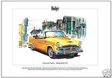 American Classics - 1953 DODGE ROYAL 500 Fine Art Print - 1954 Indy 500 pace car