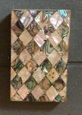 More details for antique victorian antique mother of pearl and abalone visiting card case