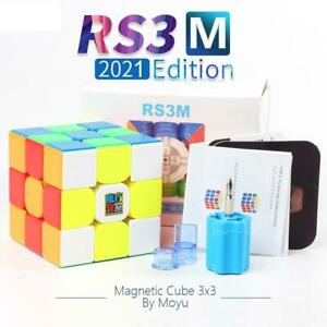 AU Stock MoYu 2021 RS3M Magnetic 3x3x3 Top Speed Magic Cube Twist Puzzle Toy