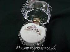 Ladies Dress Ring  Silver Cubic Zirconia Stone Set Ladies Ring  Size P