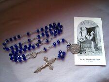 Rosenkranz hl. Antonius v. Padua 8 mm ovalen Glasperlen 1 Bild + 1 Medaille