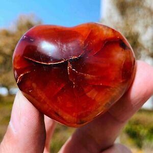 72g Red Carnelian agate heart agate crystal love heart healing crystal Healing