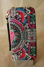 Limited Genuine Embroidered Vintage Tribal BOHO wallet, clutch purse RED PHOENIX