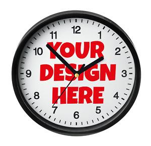 CUSTOM PHOTO CLOCK - Personalised Wall Clock, Business Logo Office Photo Gift