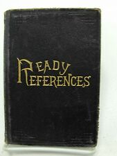 READY REFERENCES 1891 Collectable Leather George Q Cannon Mormon LDS Missionary