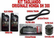 KIT TAGLIANDO ORIGINALE HONDA SH 300 - ABS OLIO FILTRO OLIO FILTRO ARIA CINGHIA