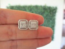 3.00 Carat Face Illusion Diamond Earrings 14k White Gold JS16E sep
