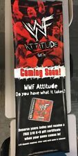 WWF Wrestling Rock Stone Cold VINYL BANNER Sign Store Display Ps1 Promo RARE D2