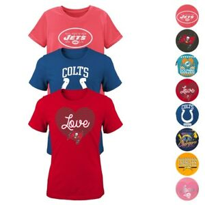NFL Outerstuff Various Team Graphic T-Shirt Collection Girls Youth Size (S-XL)