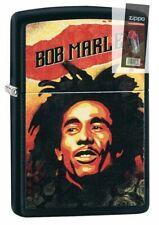 Zippo 49154 Bob Marley Design Black Matte Lighter + FLINT PACK