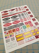New Peterbilt Scale Semi Tractor Truck Decals for 1:12/1:14/16 RC with Extras