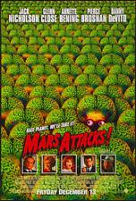 MARS ATTACKS MOVIE POSTER Original SS 27x40 JACK NICHOLSON TIM BURTON 1996