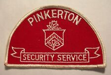 PINKERTON SECURITY SERVICES PATCH