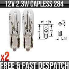 12v 2.3w W2x4.6d Capless Dashboard, Speedo, Indicator & Panel Bulbs 286x x 2