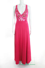 Marchesa Notte Magenta Embroidered Bloom Sheath Gown Size 2 New $1095 10316974